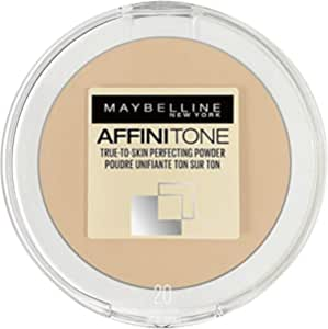 Maybelline New York Affinitone True-To-Skin Perfecting Pressed Compact Powder - 20 | Golden Rose