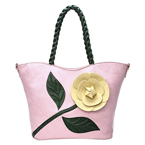 Style Bags Pink Messenger Vintage Bags Chinese Handbag Top QZUnique 1 Flower Handbags handle 5vBRxqnHnw