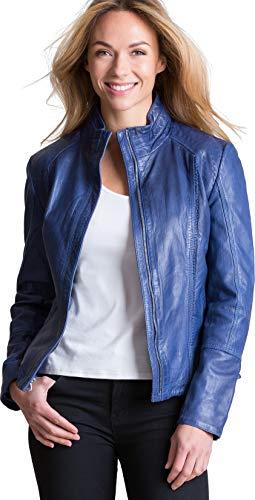 (Overland Sheepskin Co Azura Washed Lambskin Leather Jacket)