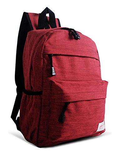 Rouge scolaire Frais Nylon Keshi multi fonction dos à Voyages loisirs Sac 8v55Zwqp