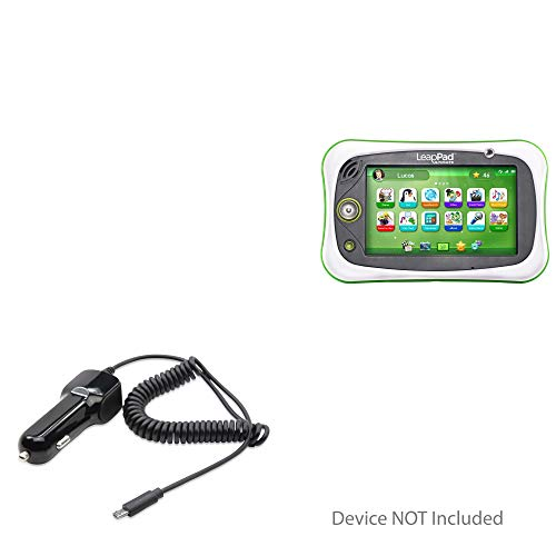 BoxWave Leapfrog LeapPad Ultimate Car Charger, [Car Charger Plus] Car Charger and Integrated Cable for Leapfrog Epic | LeapPad Ultimate - Black