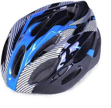 LXFTK Textura de Fibra de Carbono para Montar Casco Bicicleta de montaña Casco Dividido Casco Equipo Accesorios-Blue-L(58-61cm): Amazon.es: Deportes y aire libre