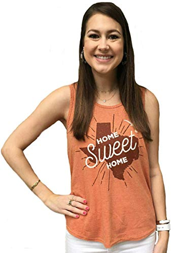 (289c apparel Ladies Texas Longhorns Heather Orange Zenon Sleeveless Tank Top Shirt (Medium))