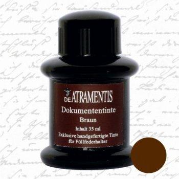 Document Brown Premium Fountain Pen Bottled Ink ~35mL Brown Bottled Ink Refill