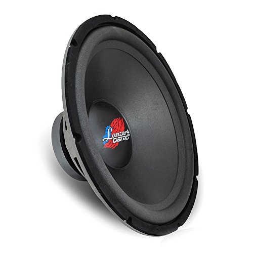 Lanzar 12in Car Subwoofer DVC - IB Open Air Audio Stereo Speaker, 4 Ohm Impedance, Steel Basket, 300 Watt Power, Non-Pressed Paper Cone and Foam Surround for Vehicle Sound System - DCTOA12D 12' 300w Powered Subwoofer