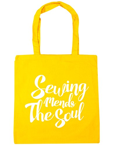 42cm HippoWarehouse Tote Soul Mends Bag The Beach 10 Shopping Sewing Yellow litres Gym x38cm qwpfqFzc
