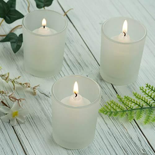(Mikash Candle Holders Frosted Votive Wedding Favor Centerpiece Decorations Wholesale | Model WDDNGDCRTN - 8410 | 24 pcs)