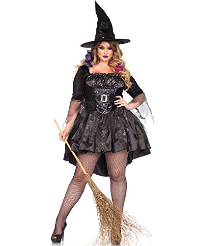 Leg Avenue 85475X Plus Size Black Magic Mistress Halloween Costume - Black - 3X-4X (Mistress Costumes)
