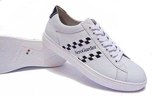 Uomo Nero Giardini Sneakers P704930u En Cuir Col. Ramène Innum.