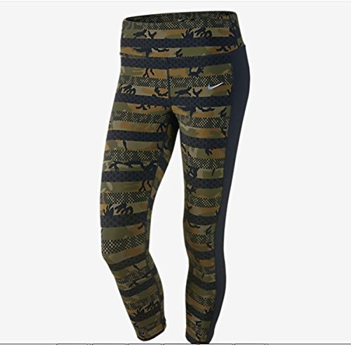 Nike Epic Lux Tight Fit Capri Pants Camo Print Size Extra Small