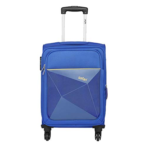 Safari Prisma 55 Cms Polyester Blue Cabin 4 wheels Soft Suitcase