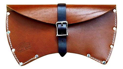 1844 Helko Werk Germany Deluxe Leather Axe Sheath (Double Bit)
