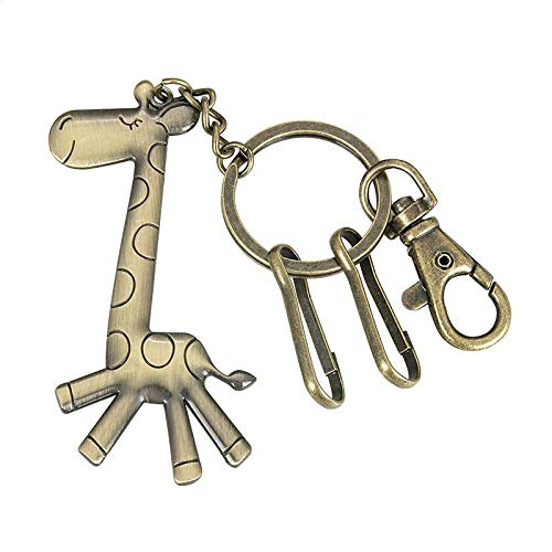 Wall of Dragon Lovely Cartoon Meng Giraffe Keychain Creative Personality Retro Pony Key Ring Pendant Key Chain
