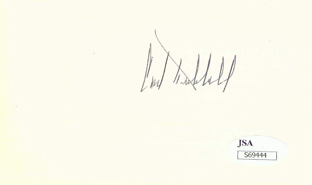 Carl Hubbell Signed Autographed Index Card NY Giants Hall of Famer JSA S69444