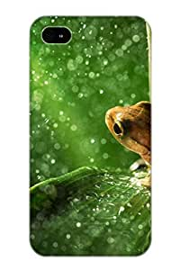 Cute High Quality Iphone 4/4s Forest Frog Rain Case Provided By Flyingangela
