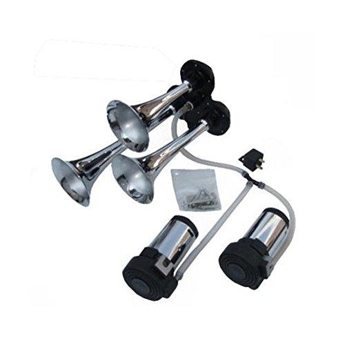 Viking Horns V301K-2C Three Trumpet Loud 139 Decibels Air Horn With Dual Air (Viking Horns For Sale)