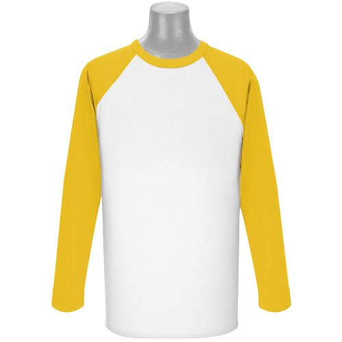 Soffe Mens Classic Raglan 3/4 Sleeve T-Shirt White/Navy 2XL