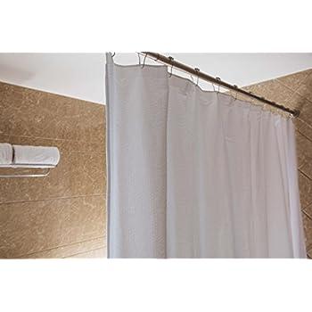 Caitlin White Seersucker Shower CurtainMildew ResistantWater Repellent72x72