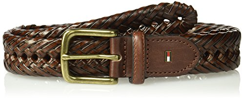 30 Hand Braided Belt - Tommy Hilfiger Men's Braided Belt, tan, 30