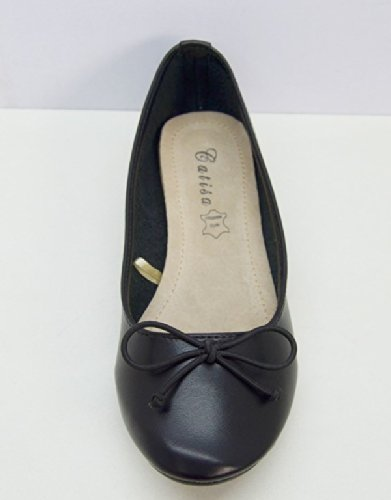 Chaussures Souples Semelle Ballerines Noeud Cuir Femme Mode SHS10 Z8gxzwA1qx
