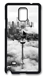 Samsung Galaxy Note 4 Case, Seattle Space Needle Tower Rugged Case Cover Protector for Samsung Galaxy Note 4 N9100 Polycarbonate Plastics Hard Case Black