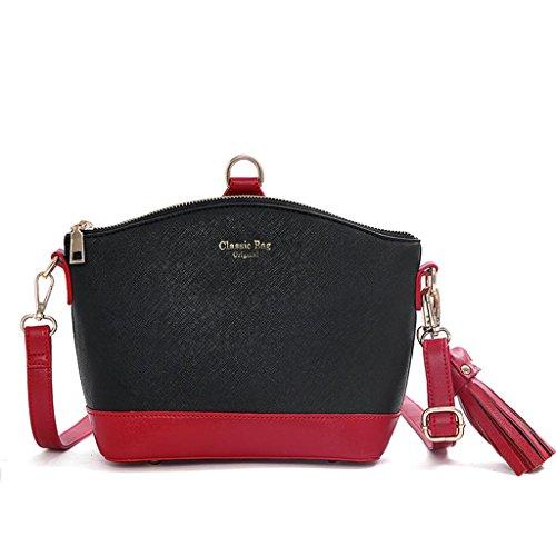NVBAO Borsa della signora borsa della spalla elegante alla spalla borsa di scuola di acquisto delle scuole di Shell, taro color black