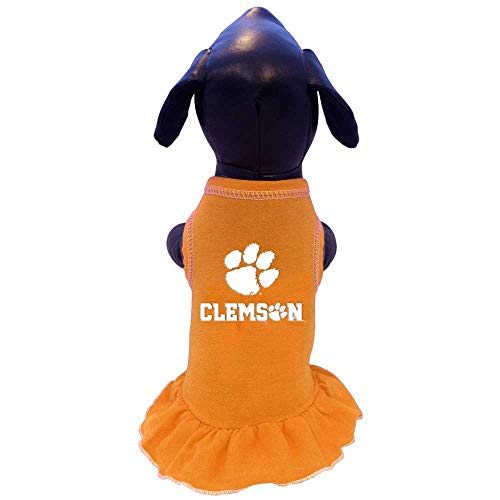 NCAA Clemson Tigers Cheerleader Dog Dress (Team Color, X-Large) ()