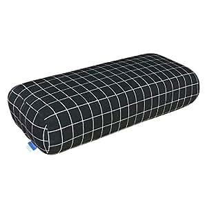 EONSHINE Canvas Exquisite Fluffy Meditation Yoga Bolster Pillow, High Density Sponge and Polyester Filled Rectangular Back Supoort Cushion, Pack of 1 (Black)