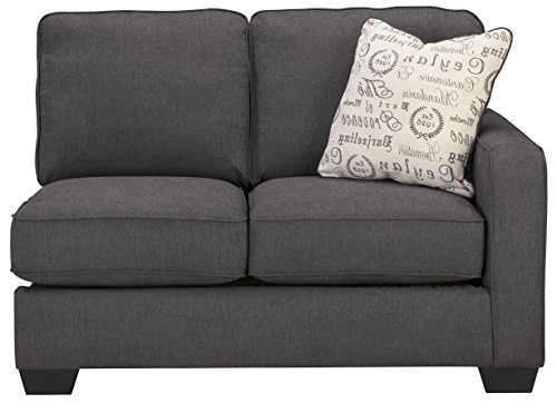 Signature Design by Ashley Alenya Right Arm Facing Loveseat, Charcoal