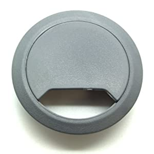 5 grey desk cable tidies 65mm plastic desk grommets desk hole inserts tidy u0026 organize office cables