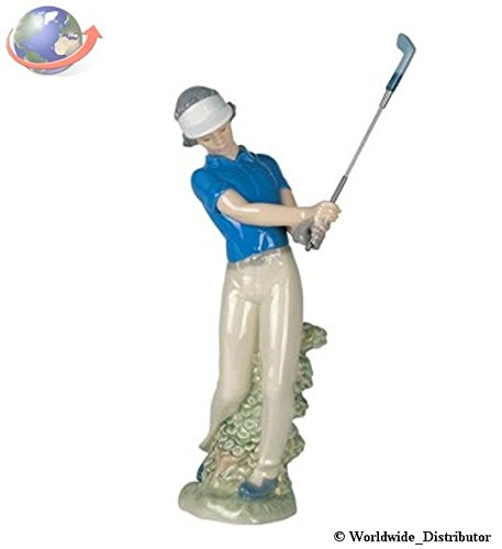 Nao Porcelain by Lladro FORE! ( FEMALE LADY GOLFER ) 2000451