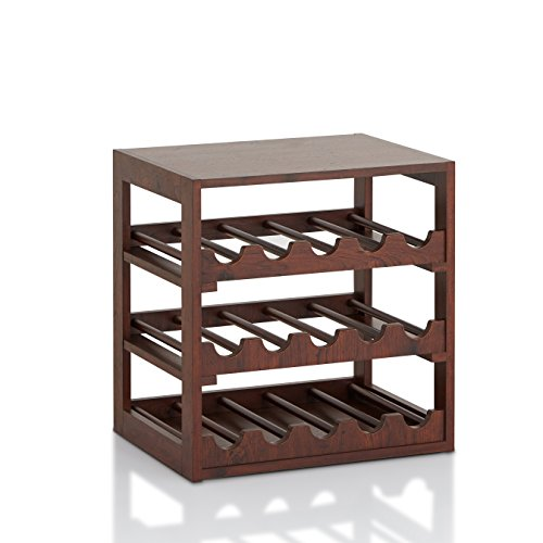 ioHOMES Dirks Rustic Wine Rack, Vintage Walnut by HOMES: Inside + Out
