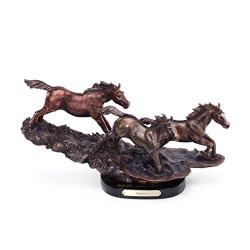DEMDACO Freedom Bronze Color 9 x 16.5 Hand-cast Resin Decorative Sculpture