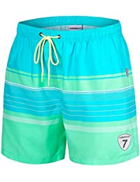 e52ba67b6d Mens Swim Trunks Quick Dry Swim Shorts with Mesh Lining Swimwear Bathing  Suits