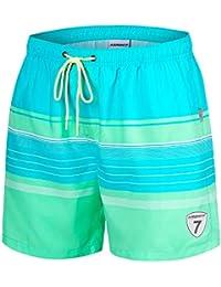 42b52dd517 Mens Swim Trunks Quick Dry Swim Shorts with Mesh Lining Swimwear Bathing  Suits