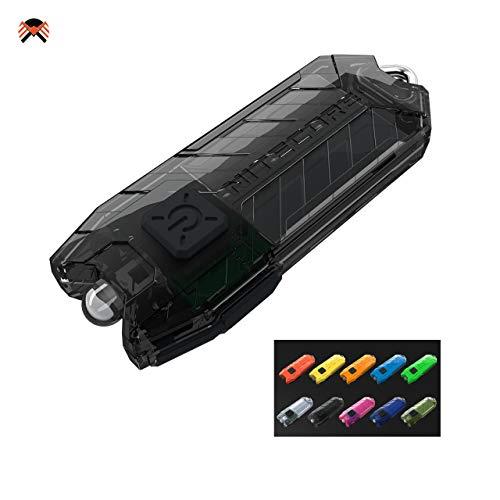 Nitecore TUBE Linterna Llavero V2.0 – Recargable USB 55 Lúmenes Autonomia 58 horas – [Nueva Versión 2021] [NEGRO]
