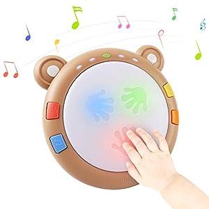 TUMAMA Jouet Musical Bébé,Tambour Musical Jouet Interactif Cadeau,Jeux électroniques pour Enfants,Jouets D'éveil…
