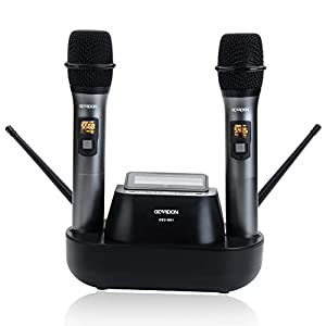 Rechargeable Dual Wireless Microphone System,...