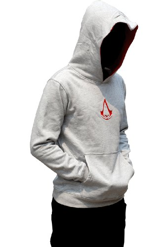 Aovei Assassin's Creed III 3 Costume Connor Kenway Embroidered Hoodie, X-Large Size