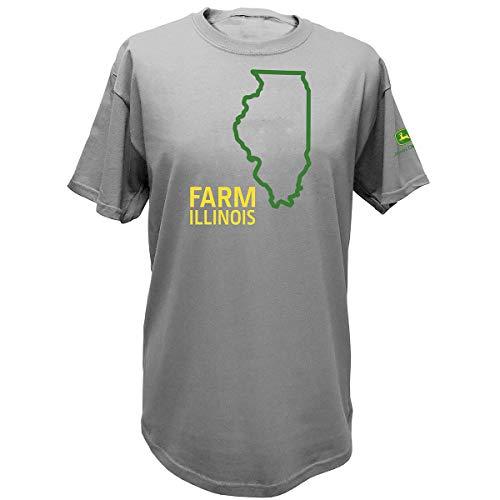 (John Deere State Pride Farm Ss Tee, Illinois, L)