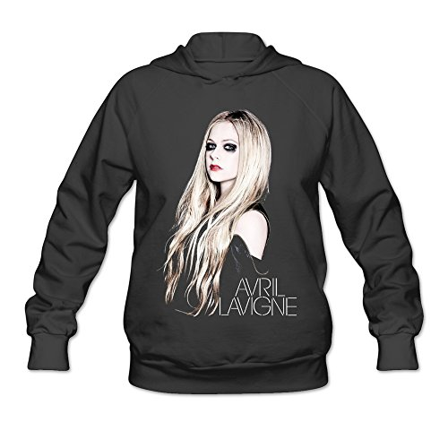 SAVIS Womens Avril Lavigne Rock N Roll How You Remind Me Hoodies Black 100% Cotton
