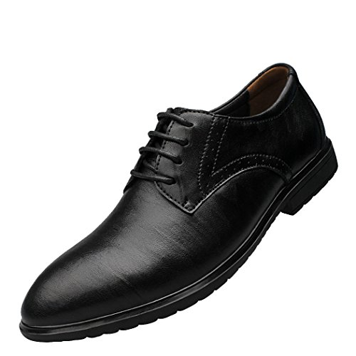 Snowman Lee Men's Leather Laced-up Dress Shoes Wear Resistan Business Work Shoes Black 11 M - Outlet Designer Newcastle