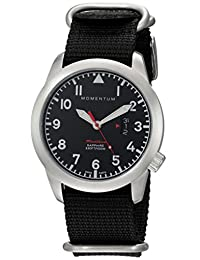 Momentum Men's 1M-SP18BS7B Analog Display Swiss Quartz Black Watch