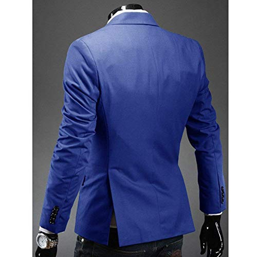 Slim Lapel Business Suit Dunkelblau Blazer Giacca Stylish Qk Elegante Uomo Sleeve Casual Leisure Fit lannister Abbigliamento Men Long t8qx74B