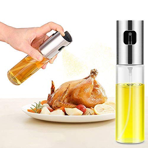 Oil Sprayer Dispenser,Olive Oil Sprayer, Spray Bottle for Oil Versatile Glass Spray Olive Oil Bottle for Cooking,Vinegar Bottle Glass,for Cooking,Baking,Roasting,Grilling.