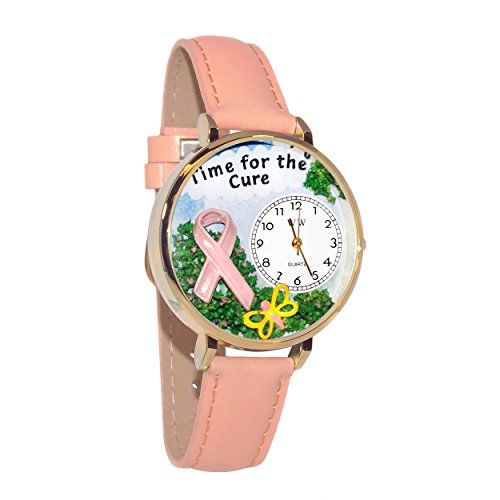 Whimsical Watches Women's G1110001 Time for the Cure Pink Leather Watch by Whimsical Watches