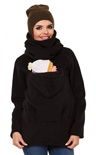 Zeta Ville - Womens Maternity Sweatshirt Babywearing Carrier Back Front - 030c (Black, US 4, S)