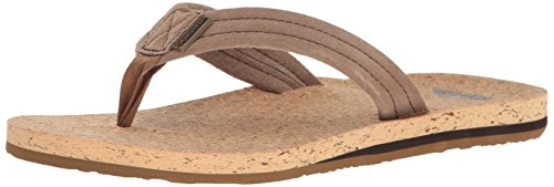 ver Cork Sandal, Brown/Brown/Brown, 9(42) D US (Cork Leather Flip Flops)