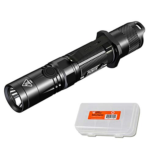 Nitecore P12GTS 1800 Lumen LED Tactical Flashlight with LumenTac Battery Organizer