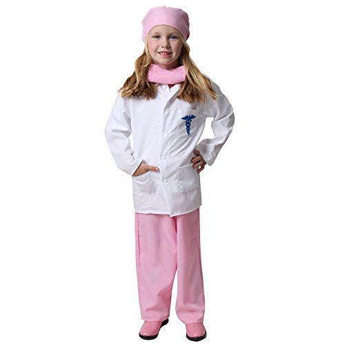 Girls Pink Doctor Deluxe Costume Set, Size ()